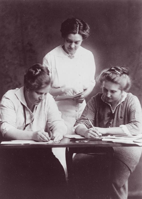 Florence Ellinwood Allen, Elizabeth Hauser, and Greta Coleman (L to R)
